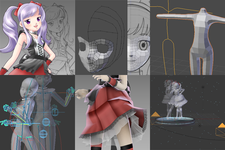 blender 3d character making 01