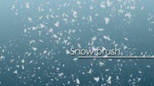 こちらも今の季節に欠かせない!無料で使えるPhotoshop「雪」ブラシ!