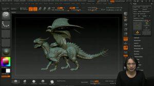 制作の流れがわかる!ZBrushでかっこいいドラゴンをモデリングしていく解説動画!