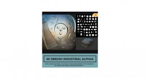 メカ作り放題や!無料のZBrush用アルファ素材「60 Industrial Zbrush Alpha's」なんと無料!