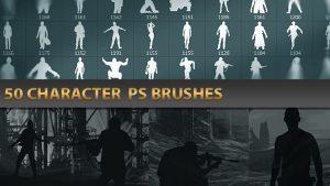 50種類もの人物シルエットを収録!コンセプトアート向けのPhotoshopブラシ「Character PS Brushes」!